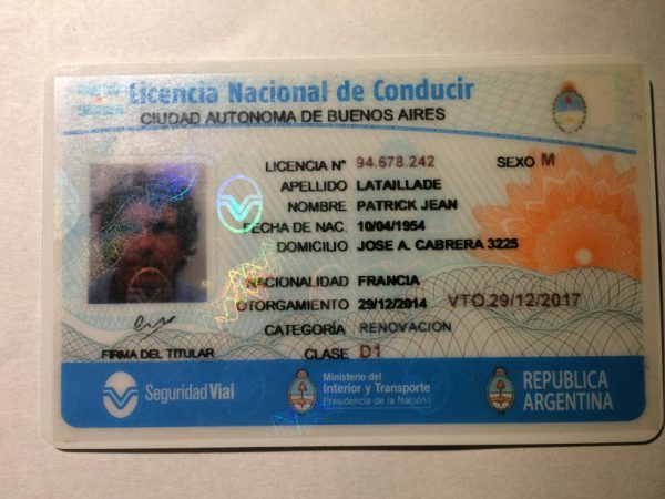 FAKE ARGENTINA DRIVERS LICENSE FOR SALE | GET FAKE ID CARD