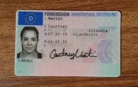Novelty German Driving license for foreigners