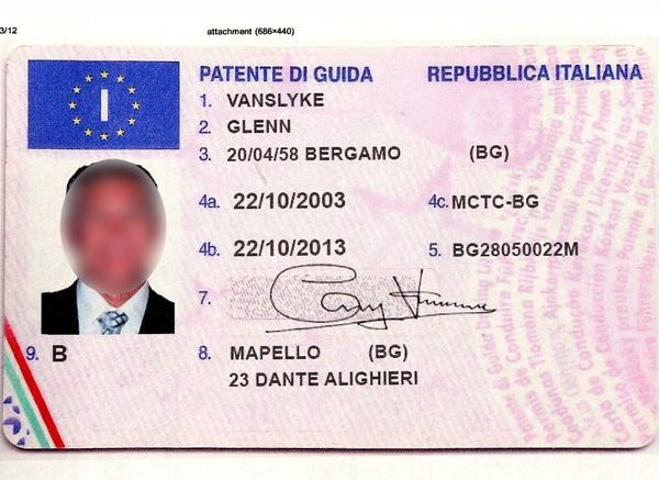 fake italian driving license
