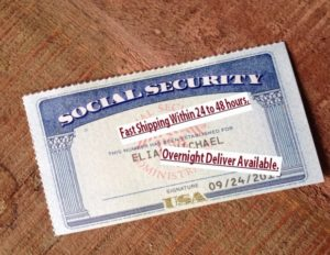 Back Door For Social Security SSN with card